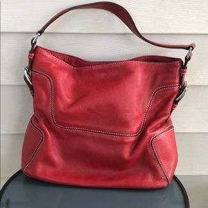 Michael Kors Red leather purse should bag white